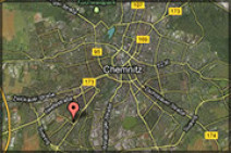 Anfahrtsweg zur Urologischen Facharztpraxis Tolkmitt/Grohs in Chemnitz