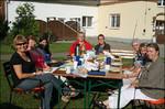 unser Praxisteam beim gemeinsamen Frühstück